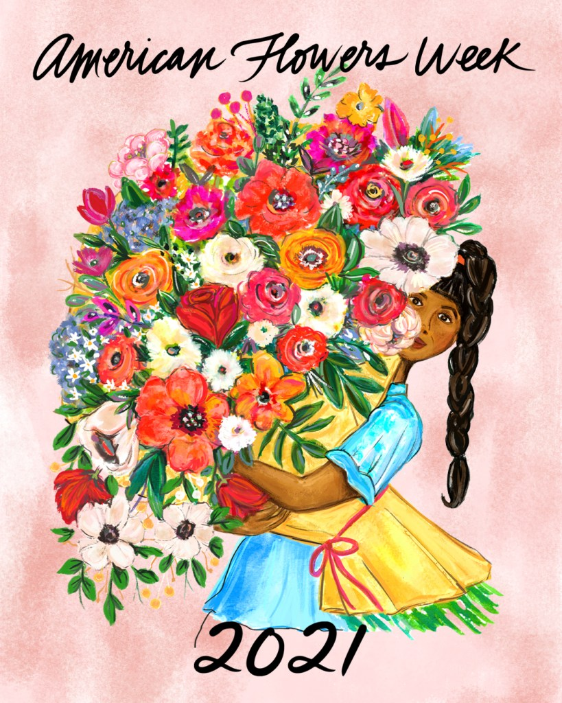 american flowers week artwork by Jeanetta Gonzales