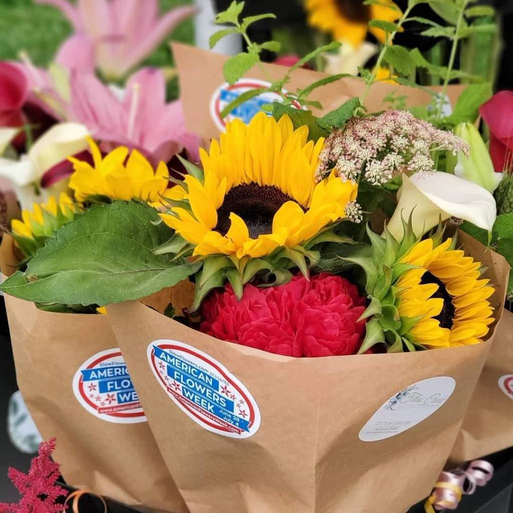 Titus Creek Flower Farm bouquets
