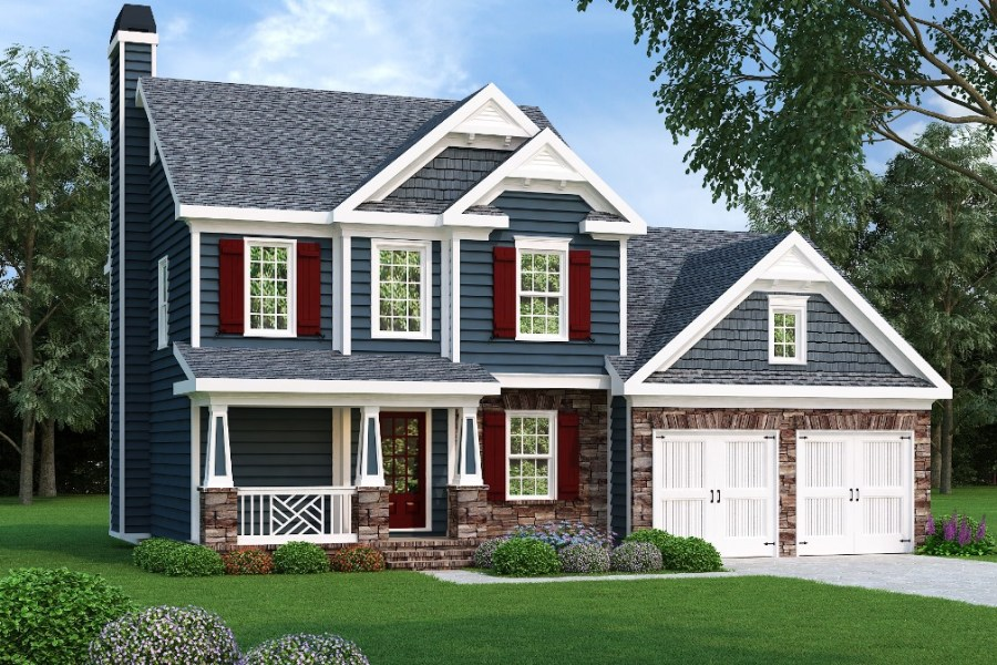 Two Story Home Plans   2 Level House Designs Add to Wishlist loading