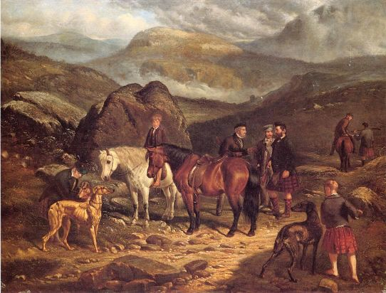 Hunting On The Scottish Highlands