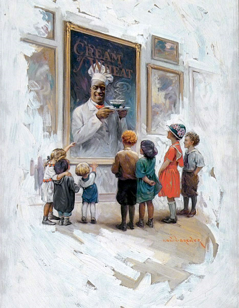 Children Looking At A Painting of Chef