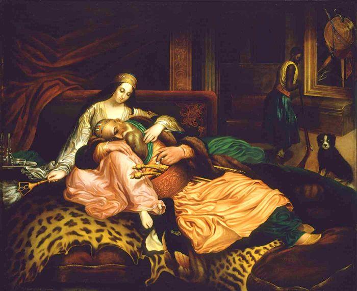 Interior Scene With Sultan And Concubine