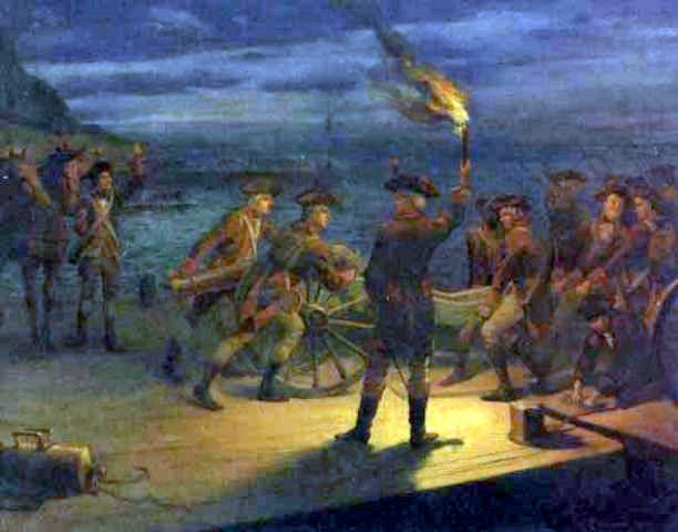 Revolutionary War Harbor Scene