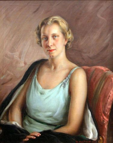 Portrait Of A Woman In A Turquoise Dress