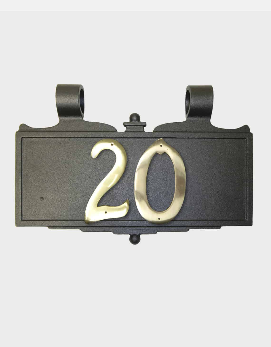 Solid Brass House Numbers Lamp Post Sign Plaque Outdoor Gas Lamps