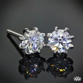 Whiteflash 8-prong martini diamond studs.