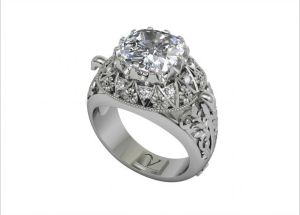 Vamp Flora Diamond Ring by The Inspired Collection