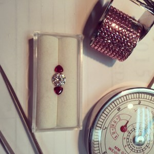 Diamond and Rubies waiting to be set at Nanci Knott & Company