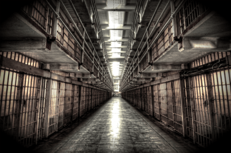 Alcatraz Cellblock, walk of shame