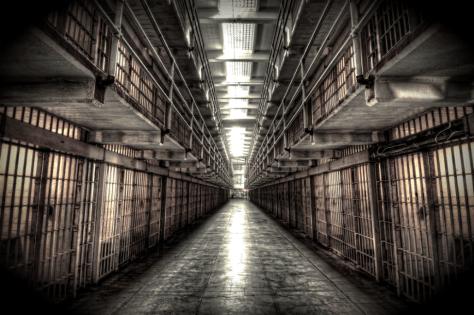 Alcatraz Cellblock, walk of shame