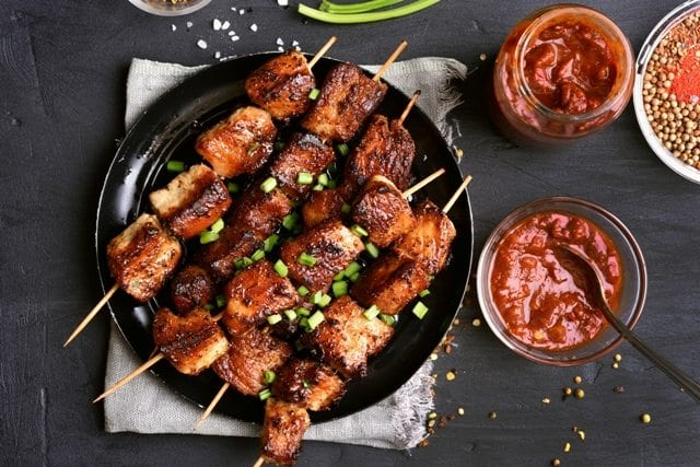 Griddle Recipes: Pork Kabobs from the American Griddle Company