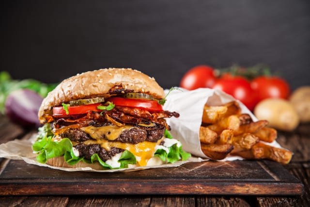 Double Cheeseburgers and Crispy Fries Never Tasted Better Than On Your Griddle!
