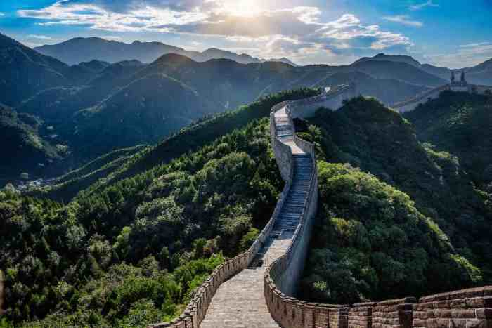 recorrido gran muralla china
