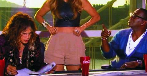 American Idol JLo shorts