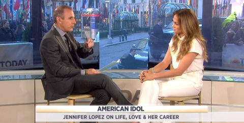 American Idol 2012 - Jennifer Lopez on the Today Show