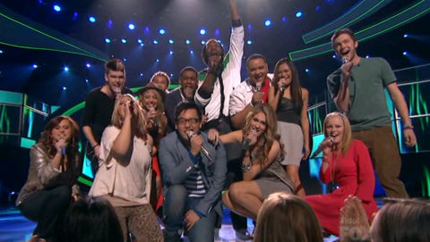 American Idol 2012 Top 13 results