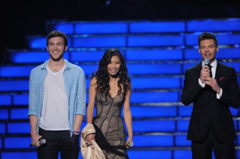 American Idol 2012 finale night Jessica and Phillip