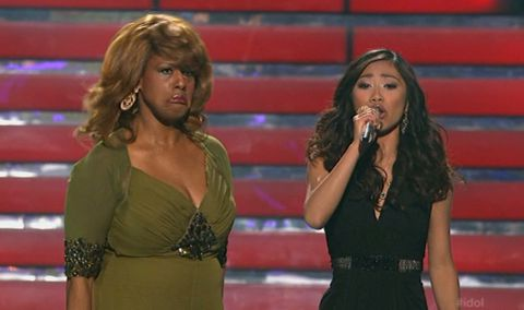 Jennifer Holliday and Jessica Sanchez on American Idol 2012