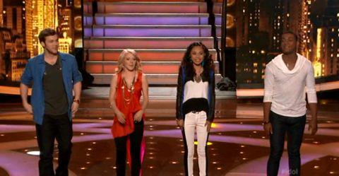American Idol 2012 Top 4 live