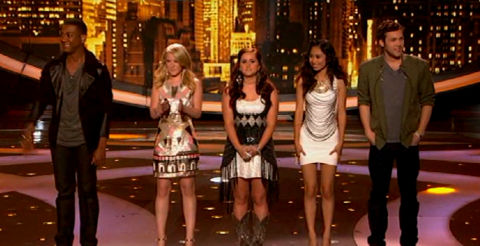 American Idol 2012 Top 5 results