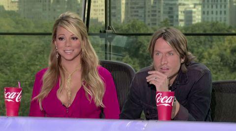 American Idol Mariah Carey and Keith Urban