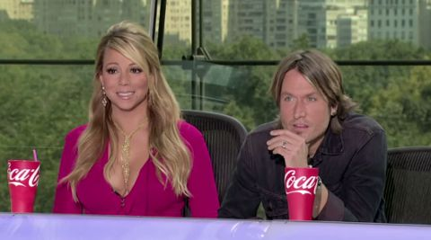 American Idol Mariah Carey and Keith Urban