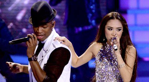 Jessica Sanchez and Ne-Yo on Idol