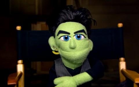 Adam Lambert's puppet on Glee - Source: FOX/YouTube