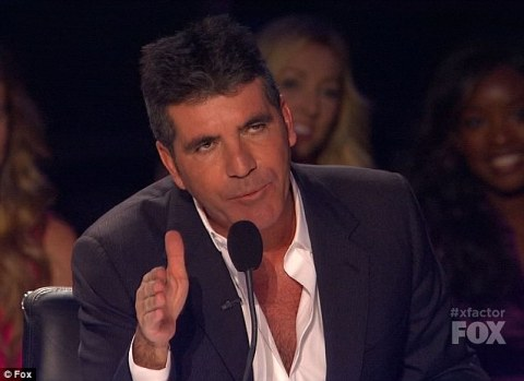 Simon Cowell on The X Factor - Source: FOX