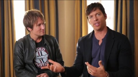 American Idol judges Harry Connick Jr. and Keith Urban
