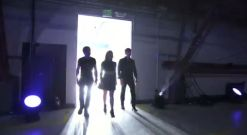 American Idol 2014 judges enter the hangar