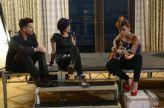 Adam Lambert listens to a Hopeful