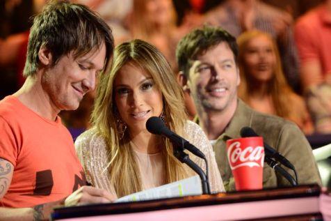 American Idol judges on Top 10 Guys night