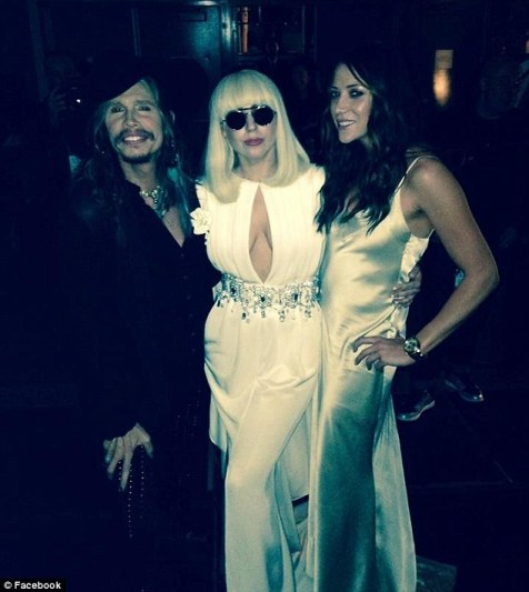 Steven Tyler with Lady Gaga