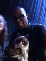 Randy Jackson and Grumpy Cat