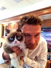 Grumpy Cat & Ryan Seacrest on Idol