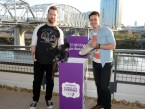 David Cook and Kris Allen donate their shoes for Soles4Souls at the Barefoot Wine & Bubbly sponsored charity concert
