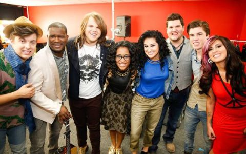 Top 8 backstage on American Idol