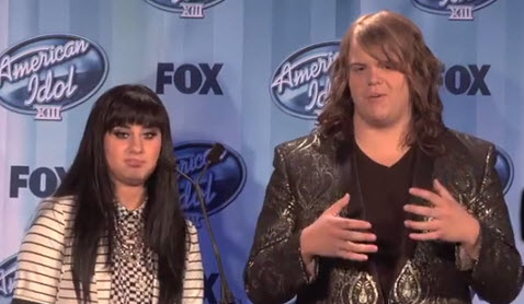 American Idol 2014 Jena Irene and Caleb Johnson