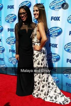 American Idol Finale Malaya Watson and Emily Piriz
