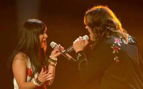 Jena Irene & Caleb Johnson perform on American Idol 2014