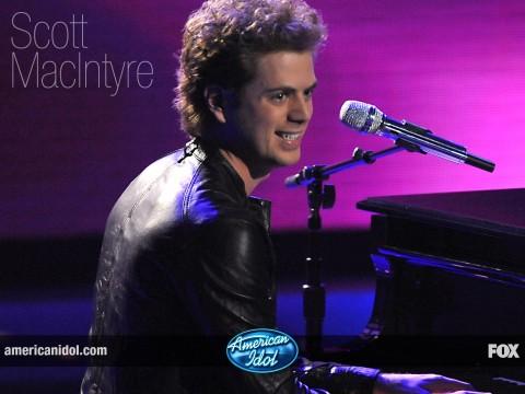 American Idol 8 finalist Scott MacIntyre (FOX)
