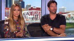 Jennifer Lopez and Harry Connick Jr on American Idol 2015