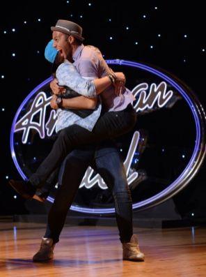 Rayvon Owen celebrates on Idol