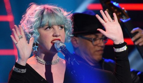 Joey Cook performs on stage for American Idol 2015