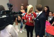 Jax interviewed by local news
