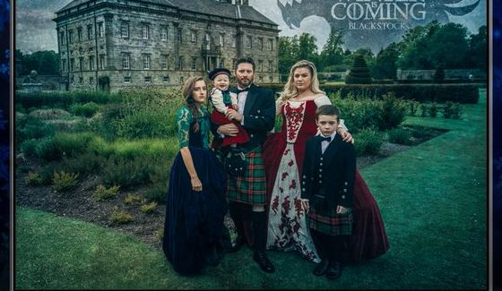 Kelly Clarkson & Blackstock GoT Christmas Card
