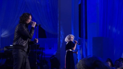 Constantine Maroulis and Jenn Blosil American Idol Top 24 duet (FOX)