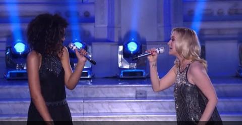 Kellie Picker and Tristan McIntosh American Idol Top 24 duet (FOX)