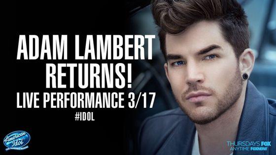 Adam Lambert returns to American Idol 2016